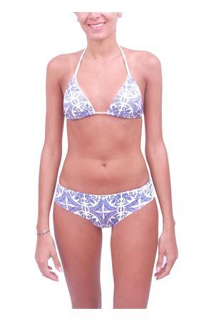 Bikini da donna fantasia Maiolica Caprese Aram V Capri | 85 | BIKINICAPRIBLU