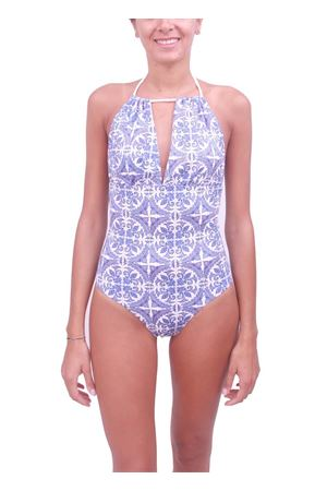 Capri Maiolica swimsuit whole Aram V Capri | 85 | INTERO CAPRIAZZURRO