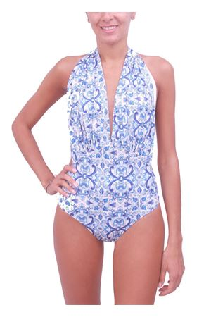 Capri Maiolica swimsuit whole Aram Capri | 85 | INTERO CAPRICELESTE