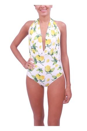 Woman lemon swimsuit whole Aram Capri | 85 | INTERO LIMONIGIALLO