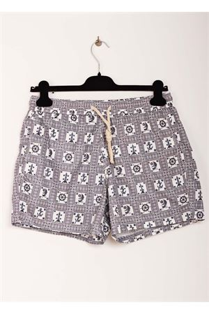 Grey man swimsuit with sea symbols pattern Aram V Capri | 85 | MAIOLICA 20GREY