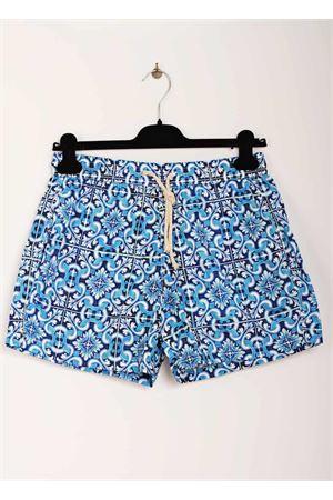Man swimsuit with majolica print Aram V Capri | 85 | MAIOLICA 452195881AZZURRO