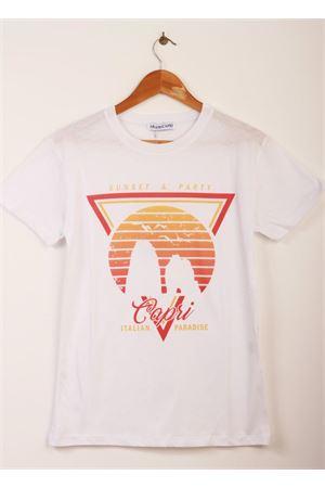 Unisex t-shirt with faraglioni of Capri print Aram Capri | 8 | OD01RH18410ARANCIONE
