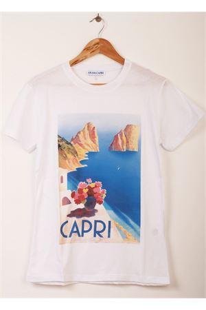T-shirt unisex con stampa Faraglioni di Capri Aram Capri | 8 | OD01RH18410AZZURRO