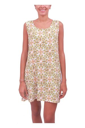 Majolica pattern sleeveless woman dress Aram V Capri | 5032262 | SVASATO1VERDE