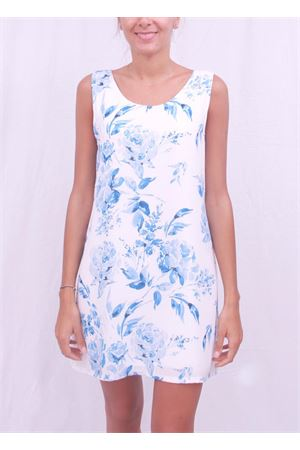 Sleeveless woman dress with floral pattern Aram V Capri | 5032262 | SVASATO2AZZURRO