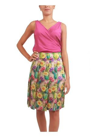 Pure silk skirt with cactus print Capri Chic | 15 | GONNACACTUSVERDE