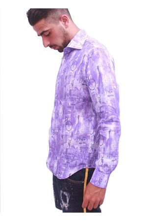 Men cotton shirt with bycicle Colori Di Capri | 6 | BICI VVIOLA