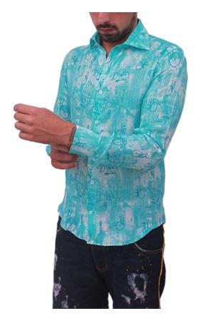 Men cotton shirt with bycicle Colori Di Capri | 6 | BICITURCHESE