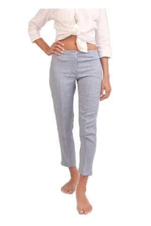 Pantalone caprese in lino grigio Colori Di Capri | 9 | CAPRI DONNAAZZURRO