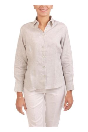 Camicia donna in lino grigio Colori Di Capri | 6 | CLASSICGRIGIO