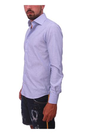 Men cotton shirt Colori Di Capri | 6 | JAQUARD CASHMEREAZZURRO