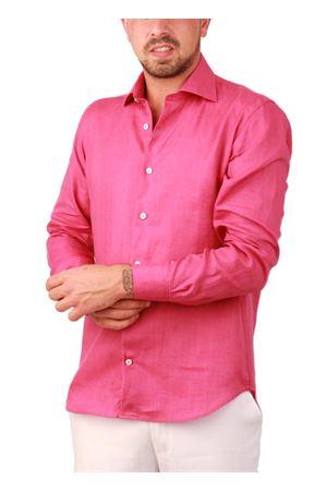 Men fucsia linen shirt Colori Di Capri | 6 | LINE REGFUXIA