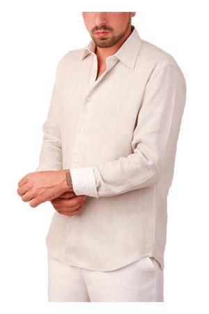 Camicia in lino da uomo grigia chiara Colori Di Capri | 6 | LINE REGGRIGIO