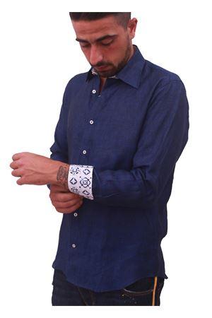 Men linen shirt Colori Di Capri | 6 | LINO BLUBLU