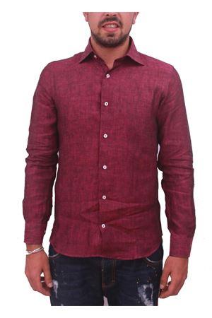 Camicia in lino da uomo bordeaux Colori Di Capri | 6 | LINO SLIMBORDEAUX