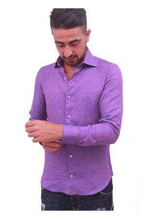 Men linen violet shirt Colori Di Capri | 6 | LINO SLIMVIOLA