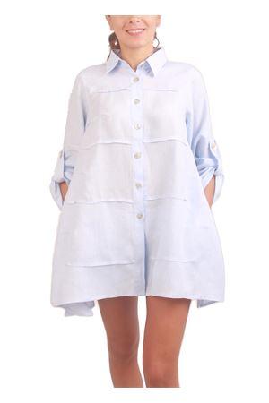 Light blue linen blouse Colori Di Capri | 6 | MILUAZZURRO