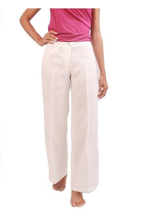 Flared white linen pants Colori Di Capri | 9 | PANT SVASATOBIANCO