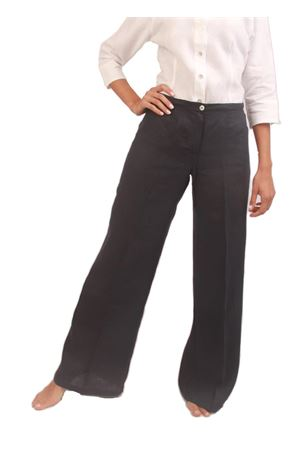 Pantalone svasato in lino blu Colori Di Capri | 9 | PANT SVASATOBLU