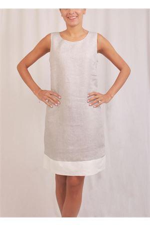 Grey classic linen sheath Colori Di Capri | 5032262 | PIGNAGRIGIO