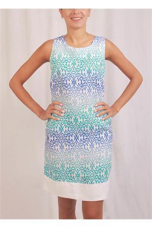 Pure linen majolica pattern sheath Colori Di Capri | 5032262 | PIGNATURCHESE FIORI