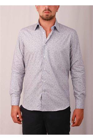 Camicia da uomo in cotone con barchette Colori Di Capri | 6 | REG COTONE BARCHETTABLU