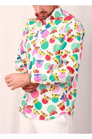Men cotton shirt with Fiat style Colori Di Capri | 6 | REG COTONE FIATFUXIA