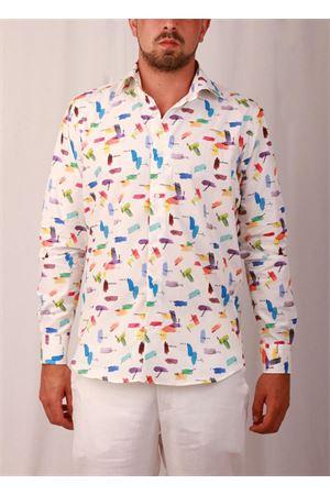 Camicia da uomo in cotone con tavolozza Colori Di Capri | 6 | REG COTONE TAVOLOZZABLU