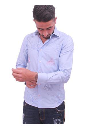 Men embrodied shirt Colori Di Capri | 6 | RICAMO FIOREAZZURRO