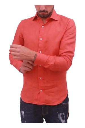 Men cotton shirt Colori Di Capri | 6 | RUGGINE SLIMARANCIO