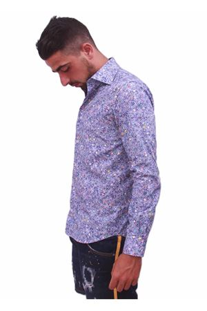 Men cotton shirt with stars Colori Di Capri | 6 | STELLE BLUAZZURRO
