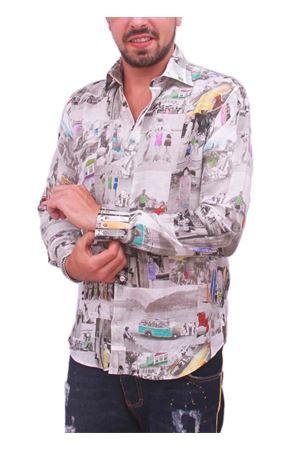 Camicia in cotone da uomo con surf Colori Di Capri | 6 | SURFGRIGIO