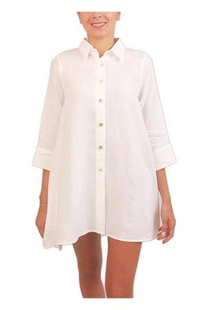 White linen blouse Colori Di Capri | 6 | SVASATABIANCO