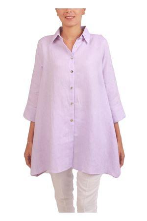 Blusa lilla in lino Colori Di Capri | 6 | SVASATALILLA