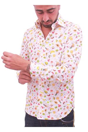 Men cotton shirt with fruits Colori Di Capri | 6 | TUTTI FRUTTIBIANCO