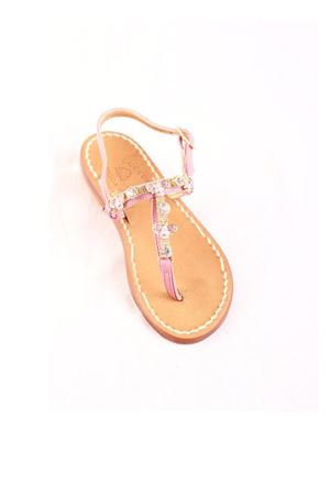 Pink bees jewel sandals for baby girl Cuccurullo | 5032256 | APINEROSA