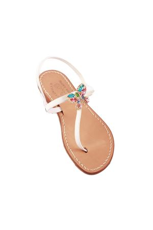White butterfly jewel sandals Cuccurullo | 5032256 | BUTTERFLYTBIANCO