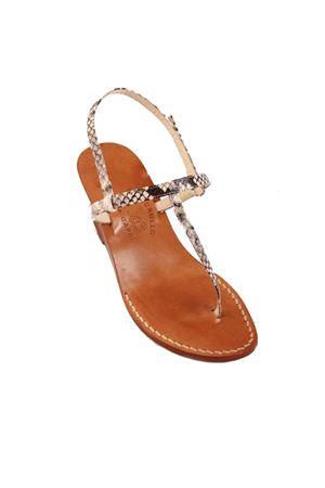 Python Capri sandals with wedge Cuccurullo | 5032256 | CAPRIT 4NERO PITONE