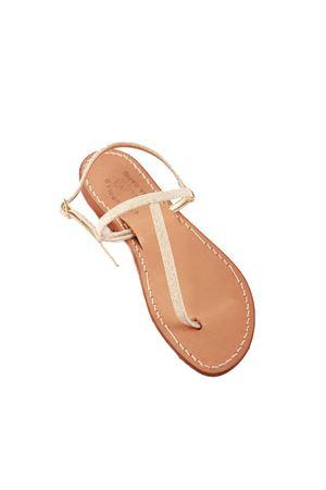 Platinum laminated capri sandals T model Cuccurullo | 5032256 | CAPRITPLATINO