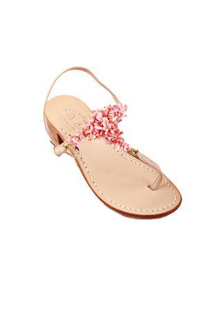 Sandali capresi coralli rosa con tacco Cuccurullo | 5032256 | CORALT3ROSA