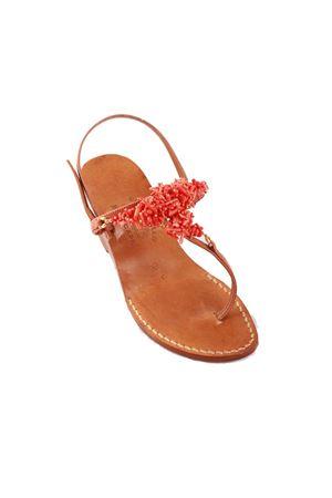 Wedge Capri sandals with corals Cuccurullo | 5032256 | CORALT4ROSSO