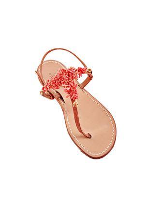 Red corals jewel sandals Cuccurullo | 5032256 | CORALTROSSO