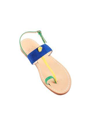 Sandali capresi blu modello dito Cuccurullo | 5032256 | DITO MULTIBLU
