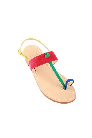 Fuxia suede toe ring style sandals Cuccurullo | 5032256 | DITO MULTIFUXIA