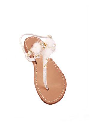 White pom pom Capri sandals Cuccurullo | 5032256 | SNOWFLAKEBIANCO