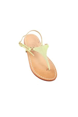 Green Capri sandals for babygirl  Cuccurullo | 5032256 | TRIANGOLO CAPRI BVERDE