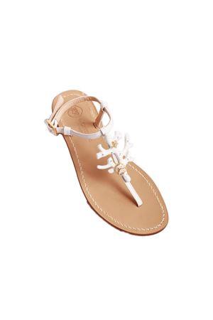 Handmade Capri sandals Da Costanzo | 5032256 | 1918CORALBIANCO