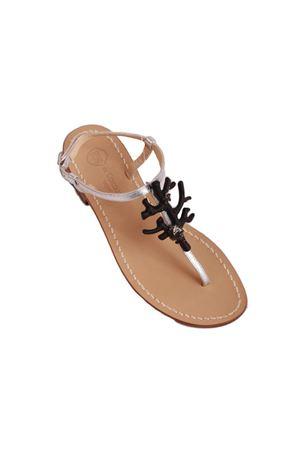 Handmade Capri sandals Da Costanzo | 5032256 | 1918CORALNERO