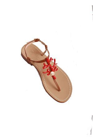 Handmade Capri sandals Da Costanzo | 5032256 | 1918CORALROSSO